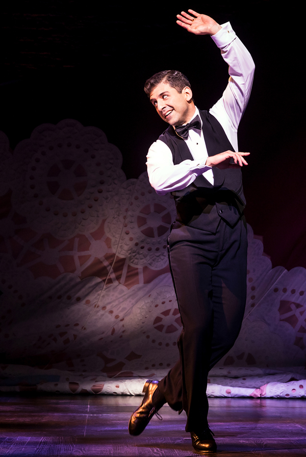 """Tony Yazbeck performs """"The Right Girl"""" in Prince of Broadway at the Samuel J. Friedman Theatre."""