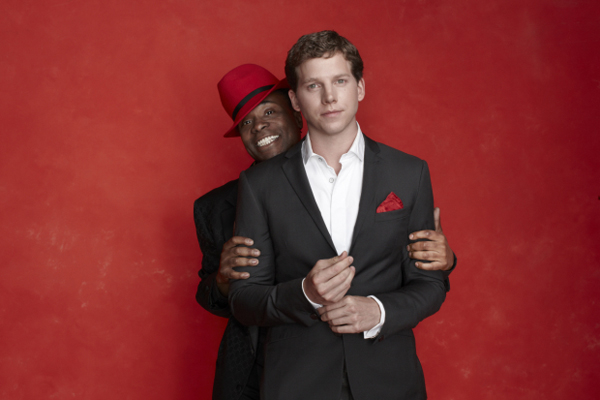 Billy Porter and Stark Sands star in Kinky Boots on Broadway.