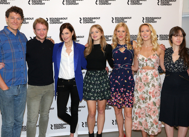 Gabriel Ebert, Matthew James Thomas, Elizabeth McGovern, Anna Baryshnikov, Charlotte Parry, Anna camp, and Brooke Bloom star in Time and the Conways.