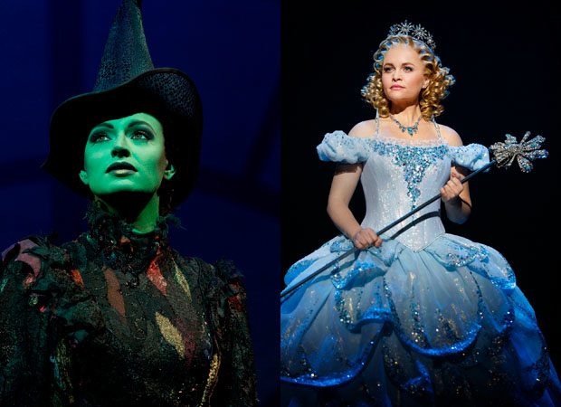 Wicked's current Elphaba and Glinda, Jackie Burns and Amanda Cooper.