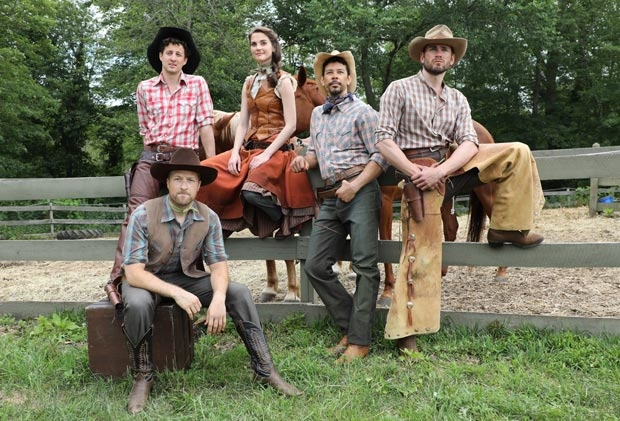 Cast members of the upcoming Goodspeed production of Oklahoma!, which will offer both sensory friendly and open captioned shows during its run.
