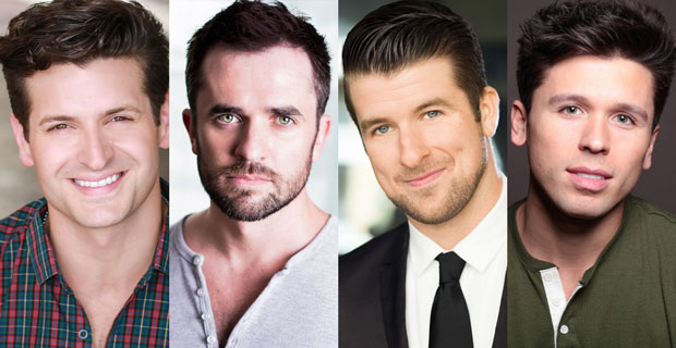 Tommaso Antico, Corey Greenan, Chris Stevens, and Jonny Wexler, stars of the Jersey Boys North American tour.