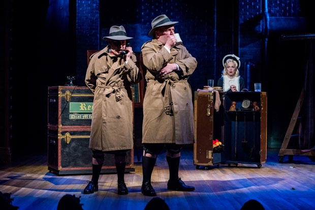 Alley Theatre has cancelled its production of The 39 Steps due to damage from Tropical Storm Harvey.