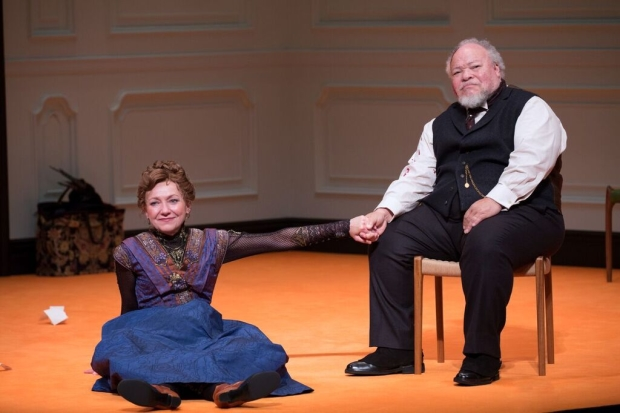 Julie White and Stephen McKinley Henderson in A Doll's House, Part 2.