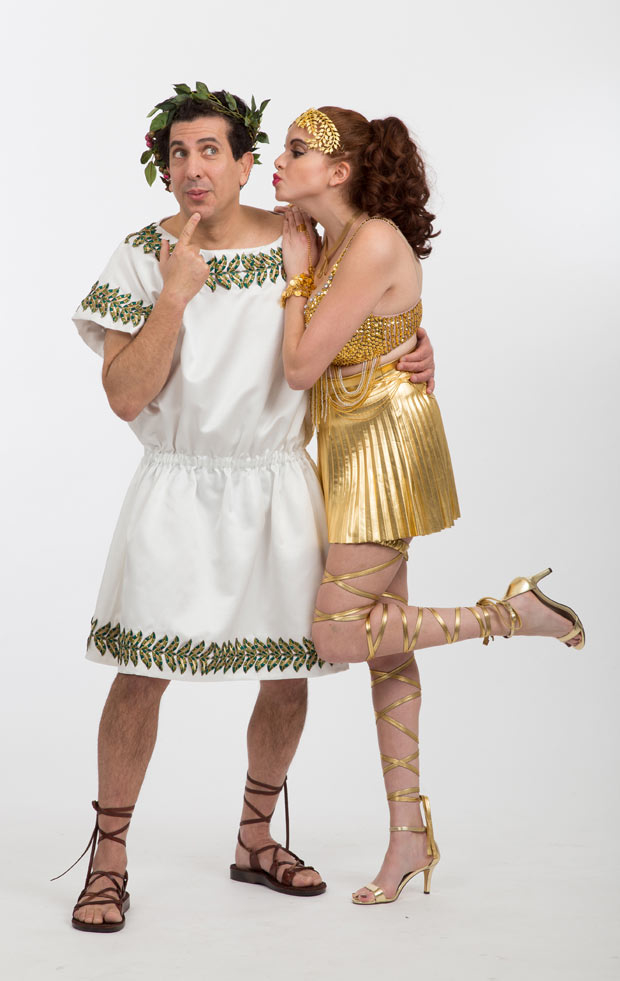 Frank Ferrante and Faith Sacher in A Funny Thing Happened on the Way to the Forum at Walnut Street Theatre.