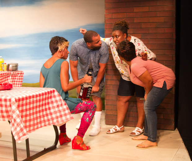 A scene from Barbecue, directed by Damon Kiely, at Steppenwolf's 1700 Theatre.