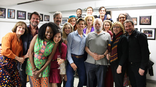 Stephen Sondheim and the cast of Company at Barrington Stage Company.