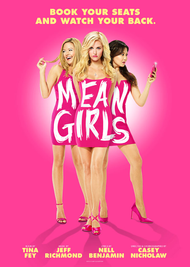 Kate Rockwell, Taylor Louderman, and Ashley Park appear as The Plastics in new Mean Girls key art.