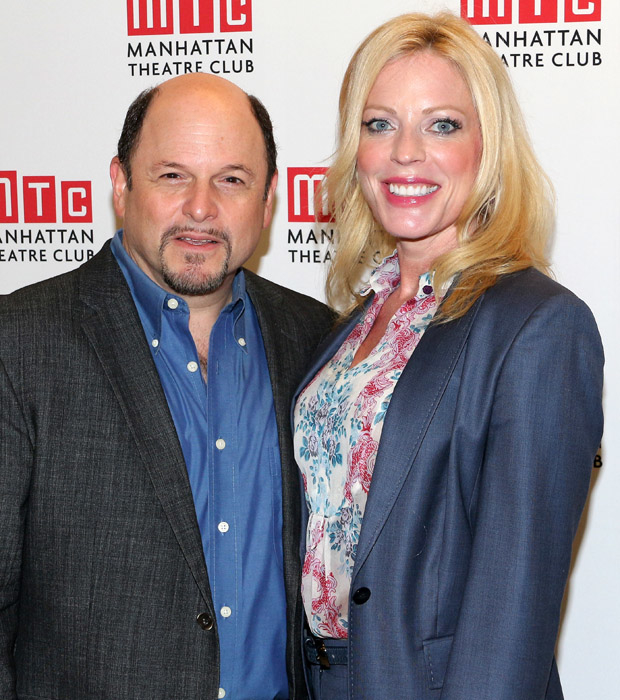 Costars Jason Alexander and Sherie Rene Scott grab a photo together.