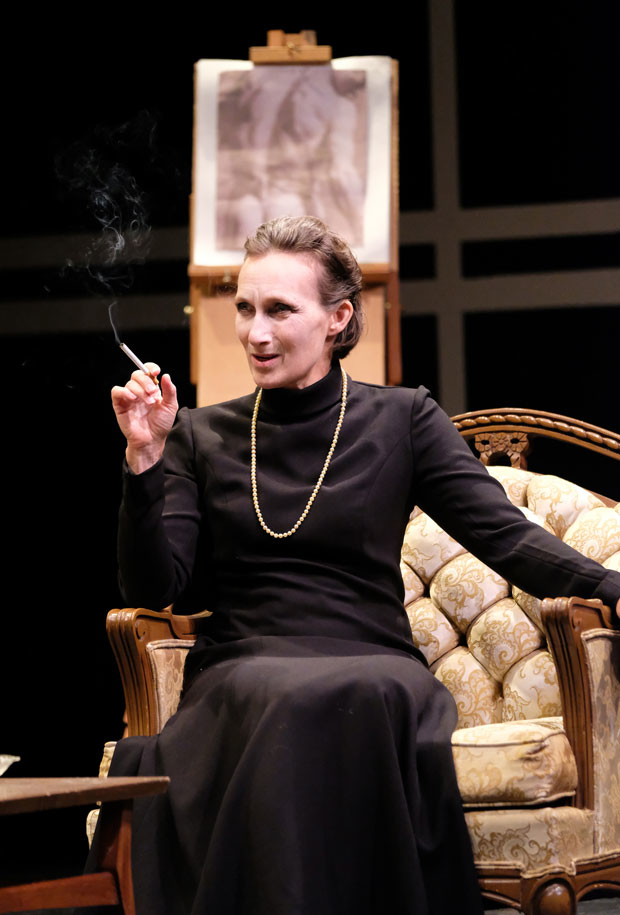 Dee Pelletier as Karen Blixen in The Baroness: Isak Dinesen's Final Affair.
