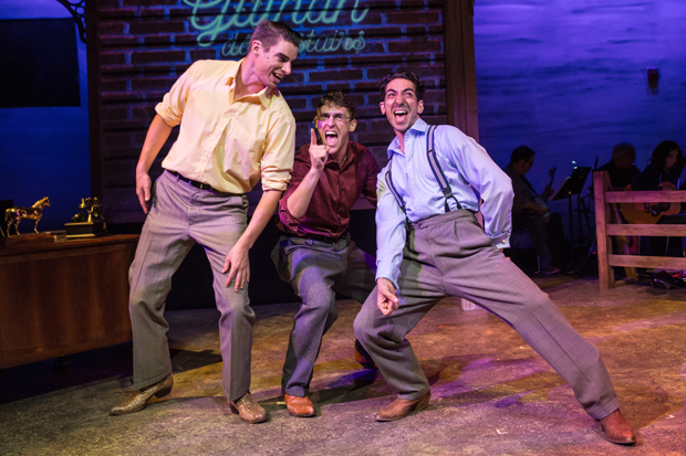 Colin Barkell, Brett Benowitz, and Joe Joseph star in Henry Aronson and Cailín Heffernan's Loveless Texas, directed by Heffernan, for Boomerang Theatre Company at the Sheen Center.