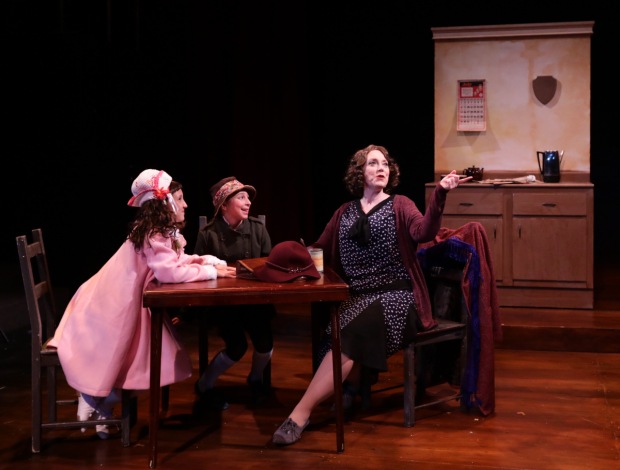 Leigh Barrett, Margot Anderson-Song, and Cate Galante in Gypsy, directed by Rachel Bertone, at Lyric Stage Company.