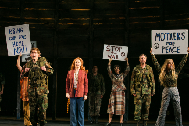 Daniel David Stewart, Kate Morgan Chadwick, and the cast of Part of the Plan, running through September 24.