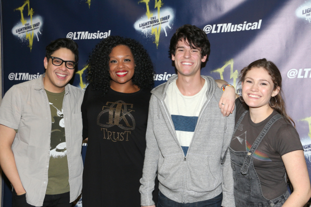Lightning Thief stars George Salazar, Carrie Compere, Chris McCarrell, and Kristin Stokes are featured on the newly released off-Broadway cast album.