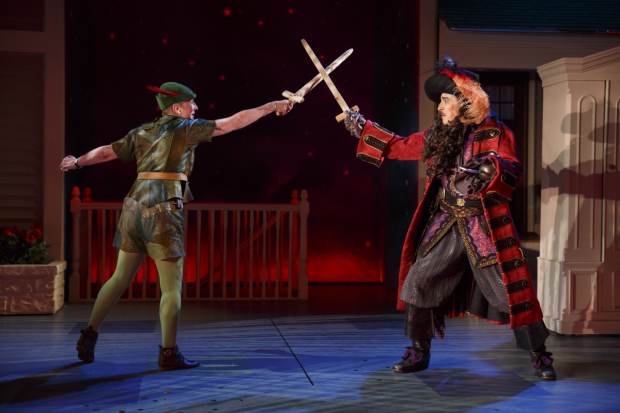 Kathleen Chalfant dukes it out with David Chandler in For Peter Pan on her 70th birthday.