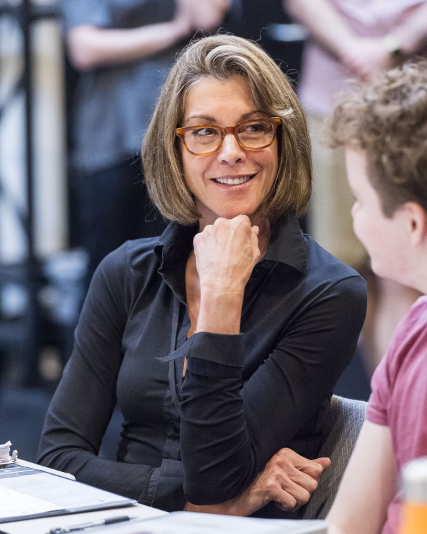 Wendie Malick in rehearsal for the world premiere of Paul Rudnick's Big Night at Center Theatre Group's Kirk Douglas Theatre.