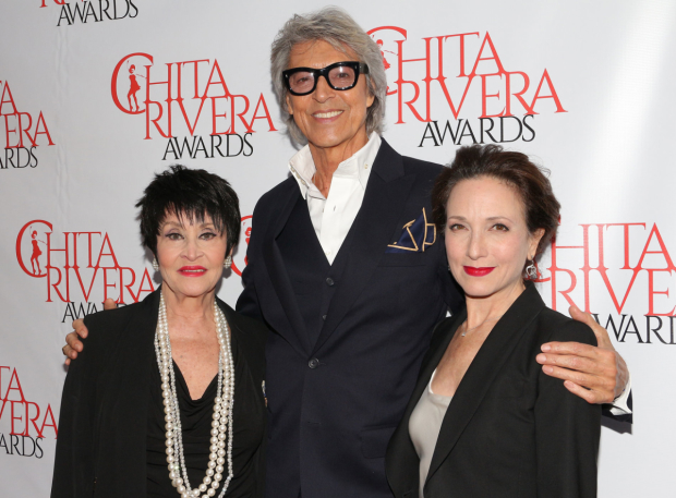 Broadway legendsChita Rivera, Tommy Tune, and Bebe Neuwirth arrive for the Chita Rivera Awards.