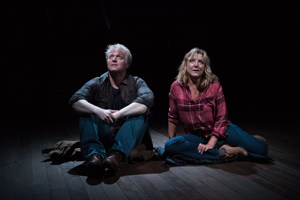 C.J. Wilson and Mary McCann star in Simon Stephens's On the Shore of the Wide World, directed by Neil Pepe, at Atlantic Theater Company.