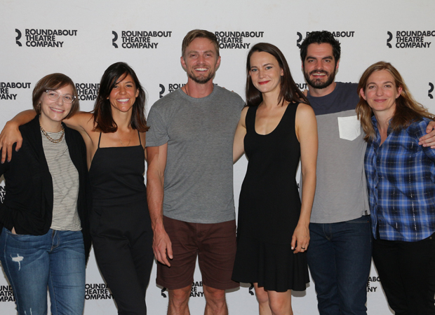 The company of Roundabout Theater Company's New York premiere of The last Match meet the press.