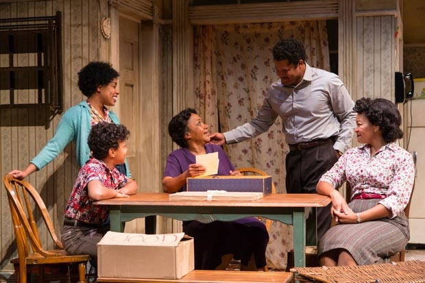 A scene from A Raisin in the Sun, directed by Carl Cofield, at Two River Theater.