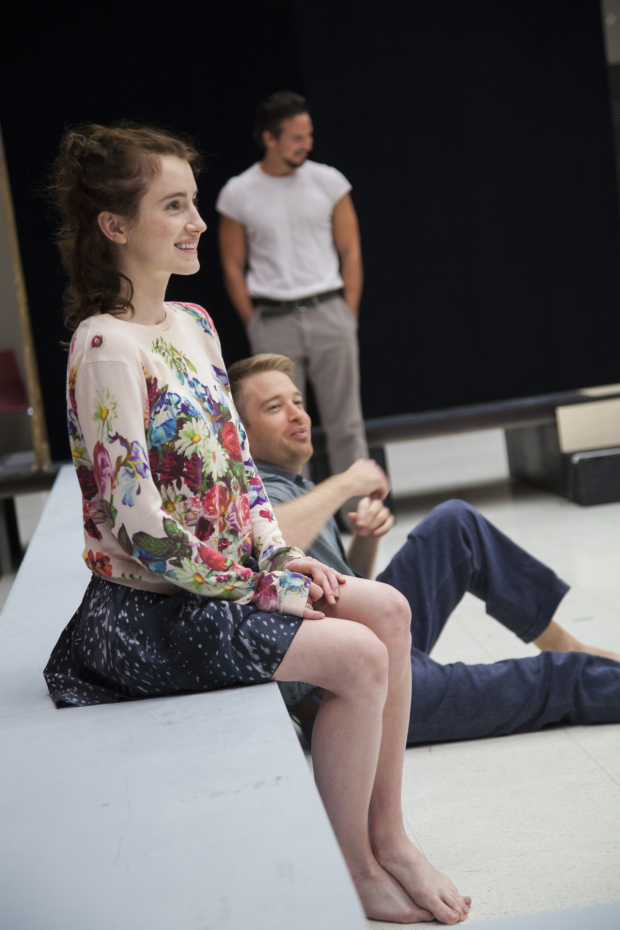 Catherine Combs in rehearsal for A View From the Bridge at the Goodman Theatre.