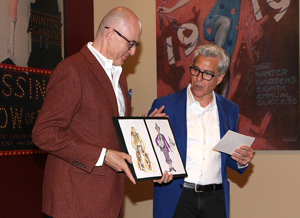 Associate costume designer Joe McFate and director Mark Waldrop give a presentation on the costume designs.