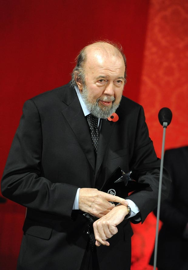Peter Hall receiving the Outstanding Contribution to British Theatre Award in 2011.
