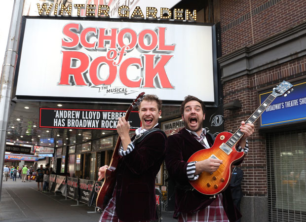 Justin Collette (right) plays his first Broadway performance on September 25.