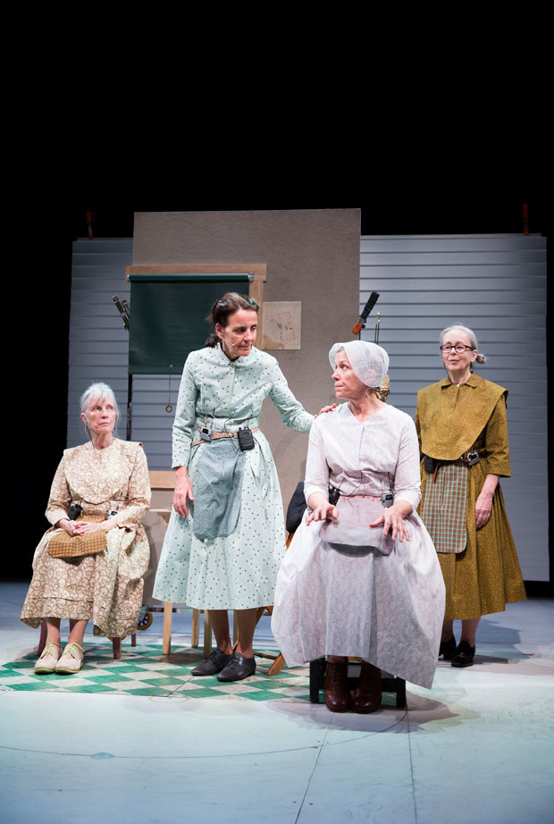 Elizabeth LeCompte, Suzzy Roche, Frances McDormand, and Cynthia Hedstrom in Early Shaker Spirituals.