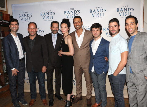 Cast members of The Bands Visit, debuting on Broadway October 7, meet the press.