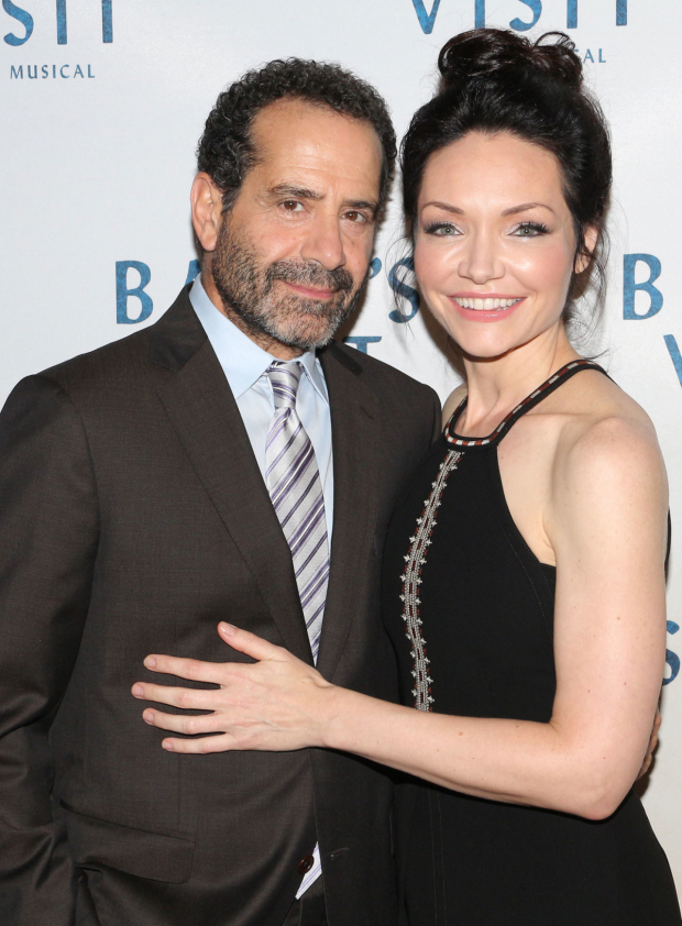 Tony Shalhoub and Katrina Lenk reprise their roles in the Broadway premiere of The Band's Visit.