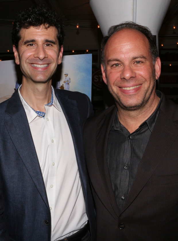 John Cariani and Andrew Polk reprise their roles for the Broadway production.