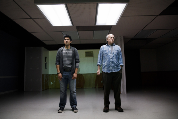 Pun Bandhu and Peter Friedman in a scene from The Treasurer, directed by David Cromer, at Playwright's Horizons.