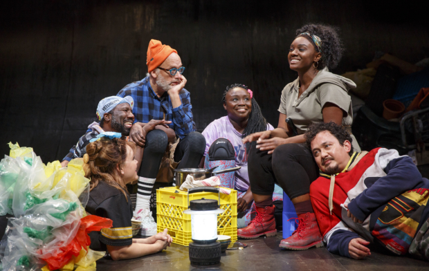 Sengbloh in a scene as Hester with her five children in In the Blood, directed by Sarah Benson.