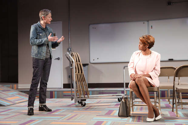 D (Kelli Simpkins) speaks with Mama Darleena (Sandra Caldwell) about the kids at the Center in Charm.