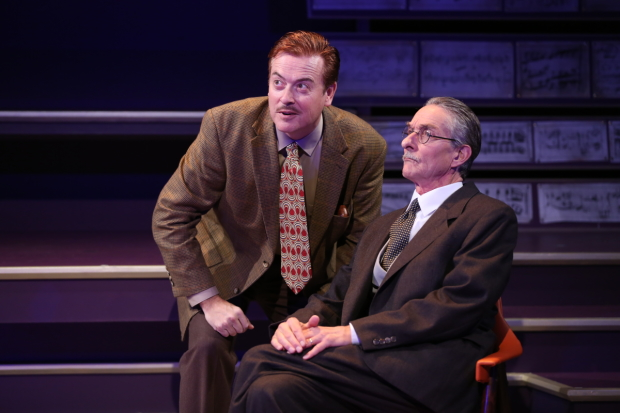 ark Shanahan and Stephen D'Ambrose play Walt Disney and Igor Stravinsky in Small World at 59E59 Theaters.