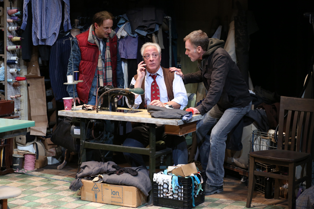 Kevin Isola, Robert LuPone, and Peter Bradbury star in Dan McCormick's The Violin, directed by Joseph Discher, for the Directors Company at 59E59.