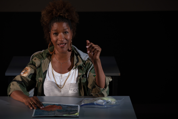 Liza Jessie Peterson writes and performs The Peculiar Patriot, directed by Talvin Wilks, at the National Black Theatre.