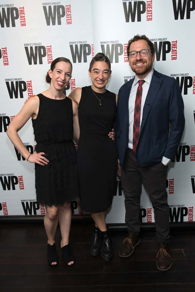 Anna Bass, Monica Bill Barnes, and Robert Saenz de Viteri celebrate opening night of One Night Only (Running As Long As We Can).