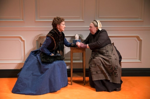 Julie White and Jayne Houdyshell in A Doll's House, Part 2.