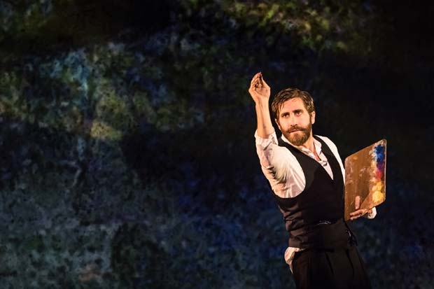 Jake Gyllenhaal in a scene from the Broadway revival of Sunday in the Park With George.