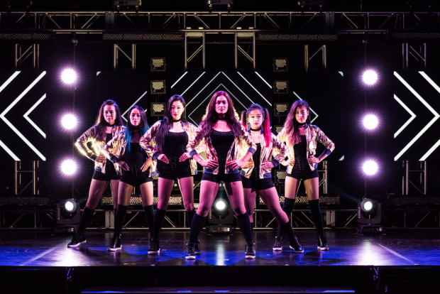 The cast of KPOP, now in its world-premiere run at A.R.T./New York Theatres.