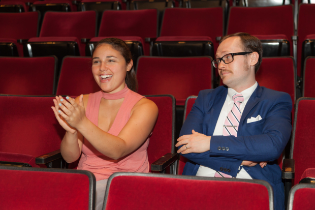 Hayley relishes the camaraderie of an audience applauding a big star, but Zach is unmoved.