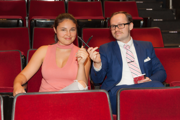 TheaterMania critics Hayley Levitt and Zachary Stewart have very different attitudes when it comes to entrance applause, a subject they discussed in the audience of the Vineyard Theatre.