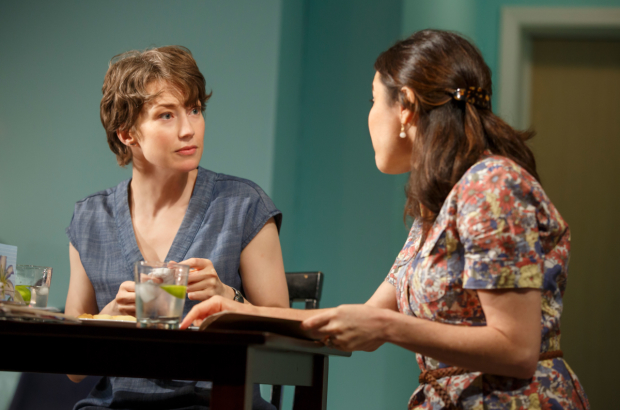 Carrie Coon and Susan Pourfar in Mary Jane by Amy Herzog at New York Theatre Workshop.
