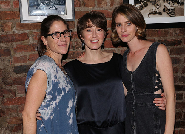 The Mary Jane team: director Anne Kauffman, star Carrie Coon, and playwright Amy Herzog.
