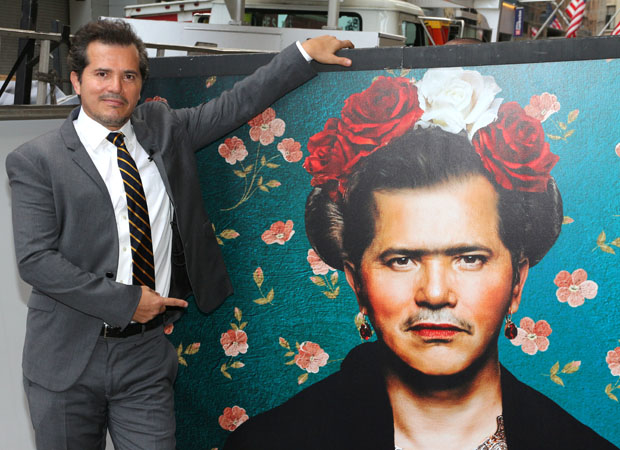 John Leguizamo's Latin History for Morons marquee features a photo of him as artist Frida Kahlo.