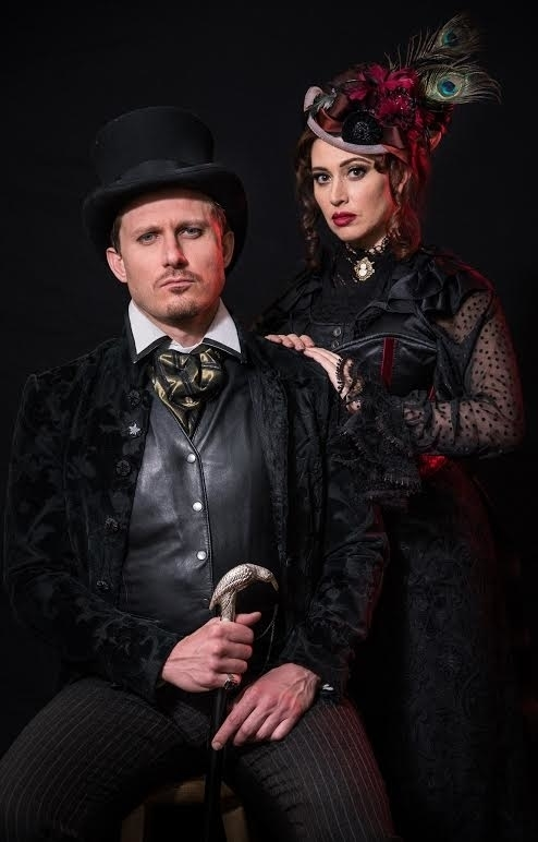 PJ Griffith and Lesli Margherita in the 2016 New York Musical Festival premiere of A Scythe of Time.