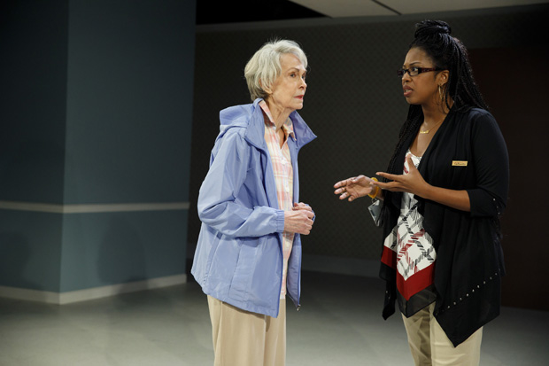 Ida (Deanna Dunagan) chats with Ronette (Marinda Anderson) in The Treasurer.