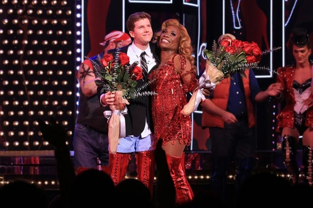 Stark Sands and Billy Porter take their first bows for their return to Kinky Boots.